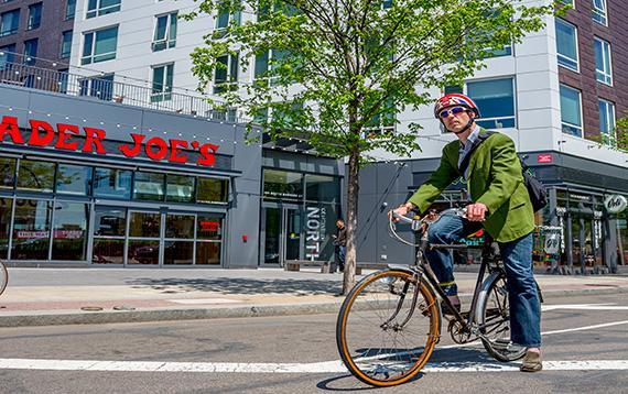 Biking Allston
